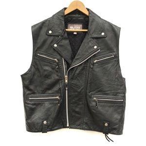 Wilsons Leather Sleeveless Moto Jacket Biker Vest